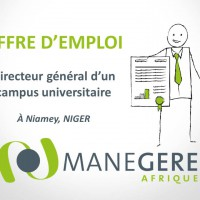 Recrutement Niger : Directeur général campus universitaire